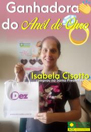 PROMOÇÃO DIA DA MÃES ACIC 2019 - Parabéns a Isabela Cisotto